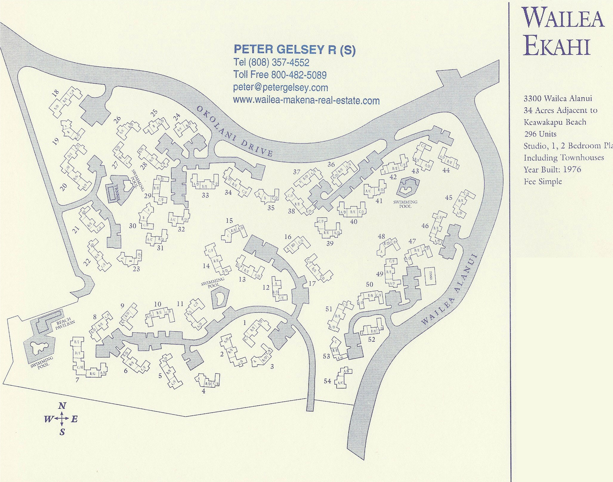 Maps Site Plans Wailea Makena Real Estate Inc